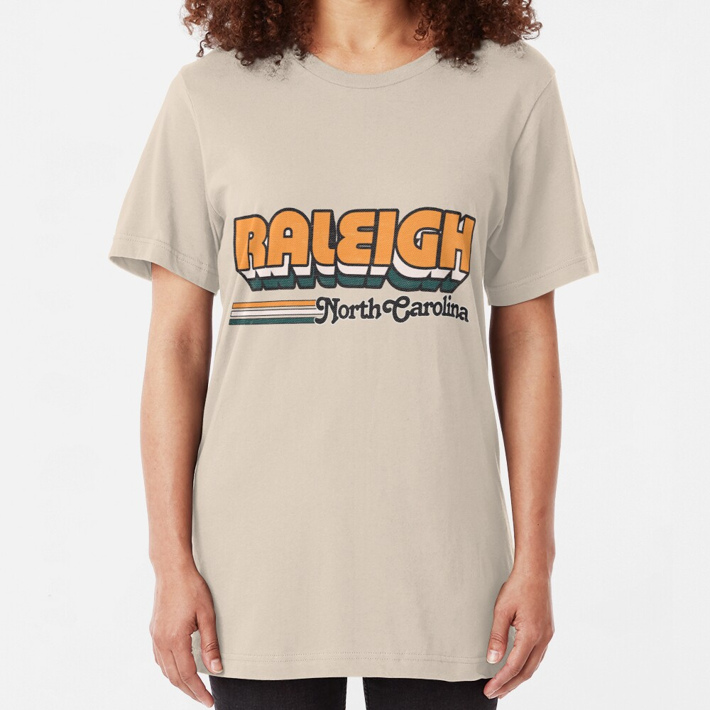 Raleigh, NC   City Stripes Slim Fit T-Shirt