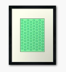 green kiwi - pattern Framed Print