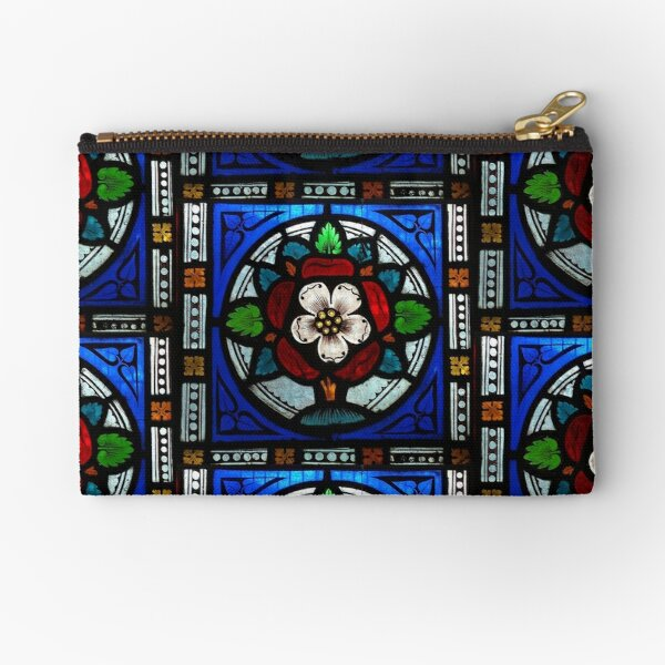 Tudor Rose Window Zipper Pouch