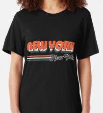 New York, New York Stadt Streifen Slim Fit T-Shirt
