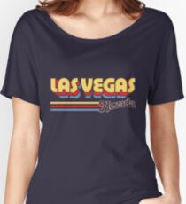 Las Vegas, NV | City Stripes Women's Relaxed Fit T-Shirt
