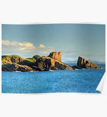 Split Rock, Clachtoll, Sutherland, Scotland. Poster