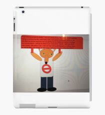 Mrs Foxy Protest against Spoilt Brats, Trolls, and Ghouls iPad Case/Skin