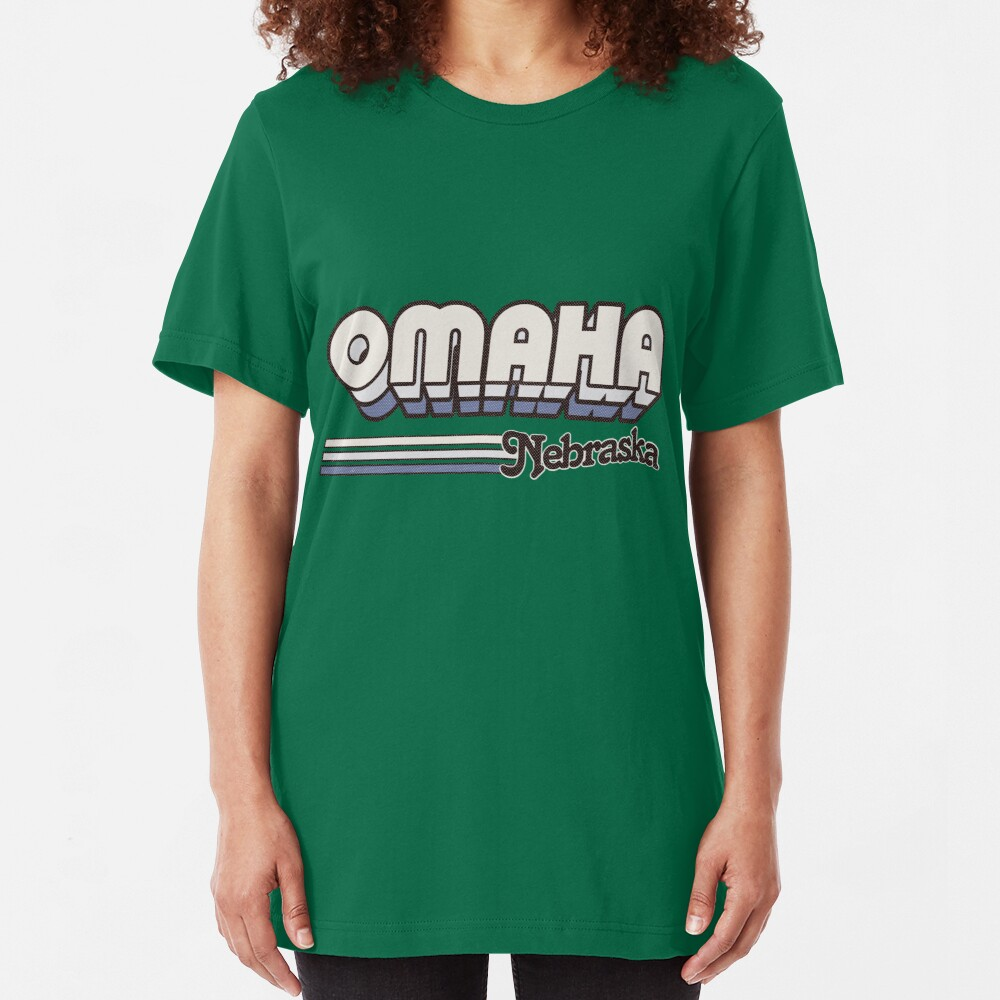 Omaha, NE | City Stripes Slim Fit T-Shirt
