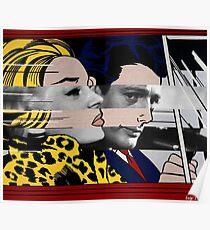 "Roy Lichtenstein's ""In the car"" & Marcello Mastroianni with Anita Ekberg in La Dolce Vita Poster"
