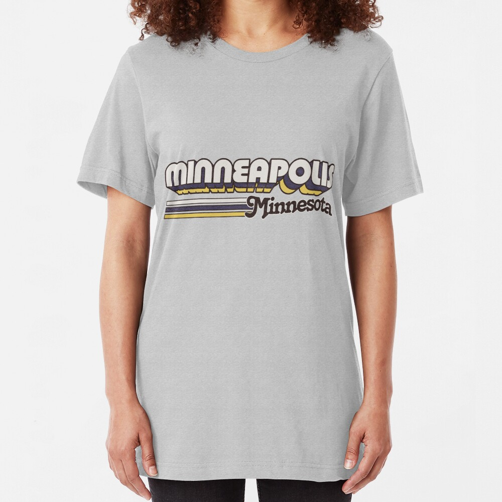 Minneapolis, MN | City Stripes Slim Fit T-Shirt