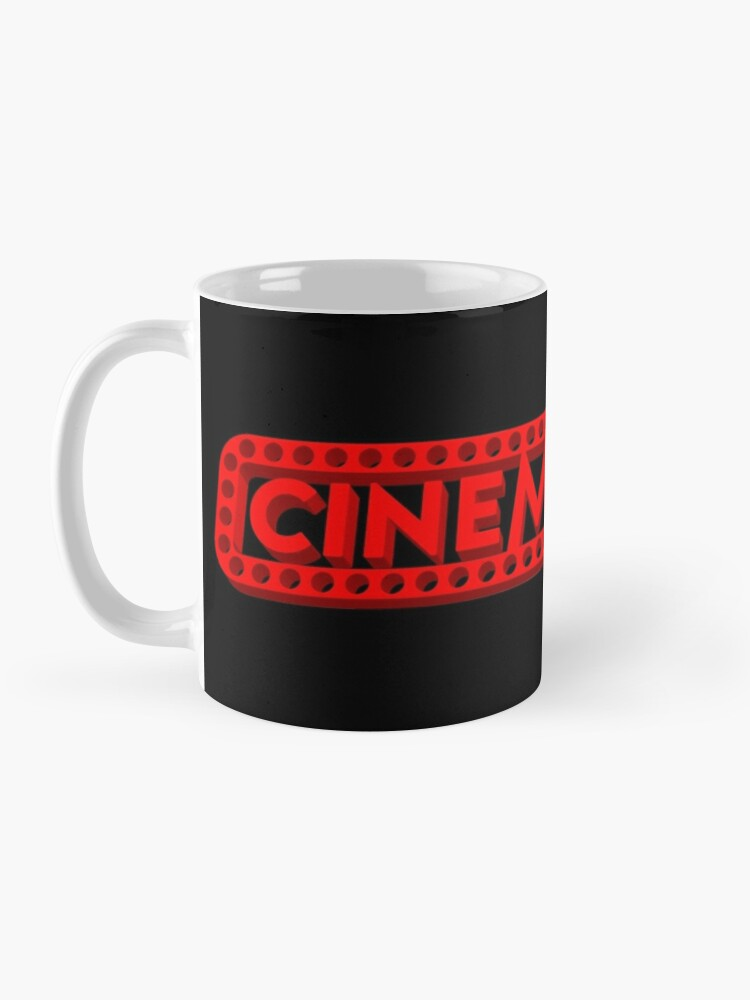 Alternate view of Cinemaniacs 3D LOGO [on black] Mug