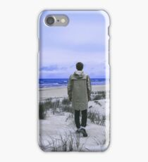 Beach Walking at dusk iPhone Case/Skin