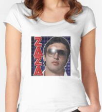 ZAZA Tailliertes Rundhals-Shirt