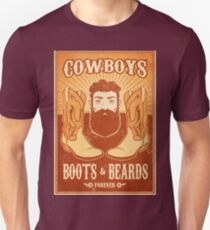 Cowboys, boots and beards design T-Shirt