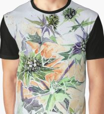 Spikey Sea Holly Graphic T-Shirt