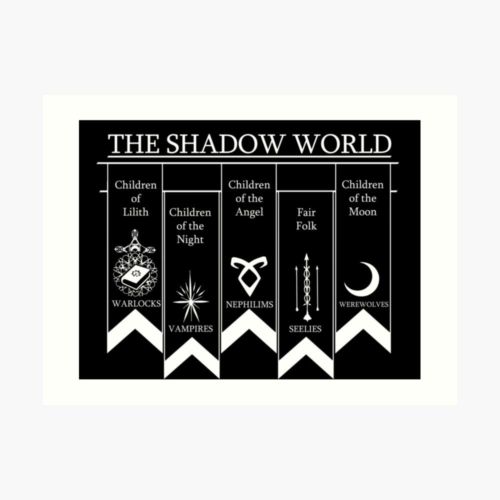 The shadow World - Shadowhunters Lámina artística
