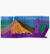 David Hockney winter time painting print Poster