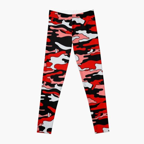 Red & Black Camouflage  Leggings