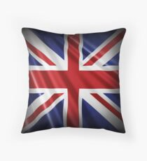 Union Flag - Union Jack - Patriotic Flag Throw Pillow
