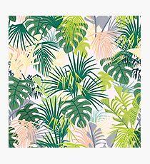 pink jungle pattern Photographic Print