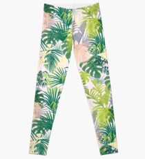 pink jungle pattern Leggings