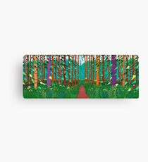 David Hockney the Arrival of Spring Print Canvas Print