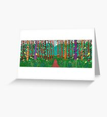 David Hockney the Arrival of Spring Print Greeting Card