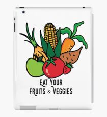 Eat your fruits and veggies iPad Case/Skin