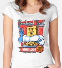 Powdered Toast Man  t-shirt  Women's Fitted Scoop T-Shirt