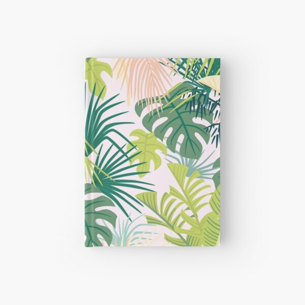 pink jungle pattern Hardcover Journal