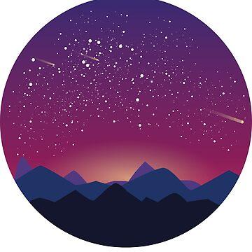 Space landscape - purple by imgabsveras