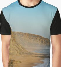 Yellow rocks and sand on portuguese coastline, vivid ocean water, panoramic view Graphic T-Shirt