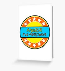MARGE FOR PRESIDENT Greeting Card