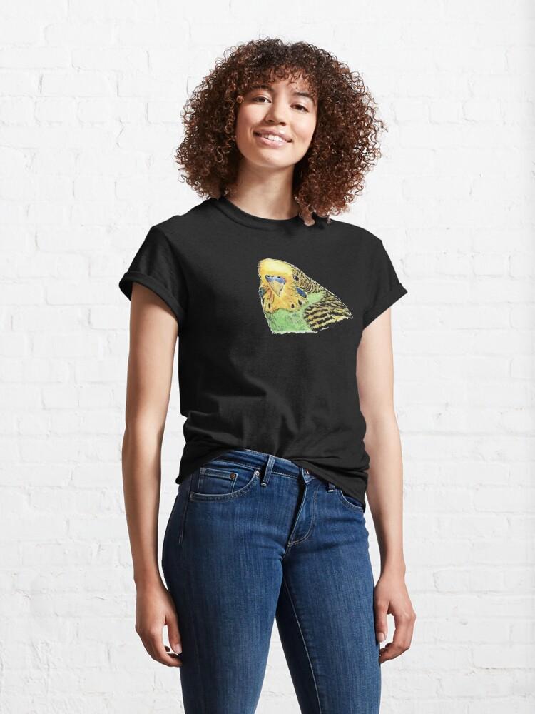 Alternate view of Prettyboy the Green Parakeet Classic T-Shirt