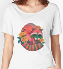 Watermelon Raccoon  Women's Relaxed Fit T-Shirt