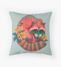 Watermelon Raccoon  Throw Pillow