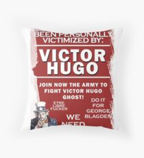 Fight Victor Hugo Ghost Throw Pillow
