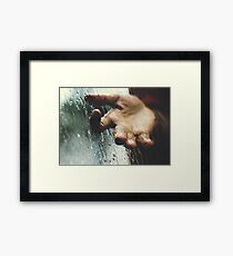 Rainy day woman Framed Print