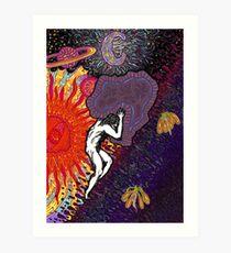 Psychedelic Myth Of Sisyphus Art Print