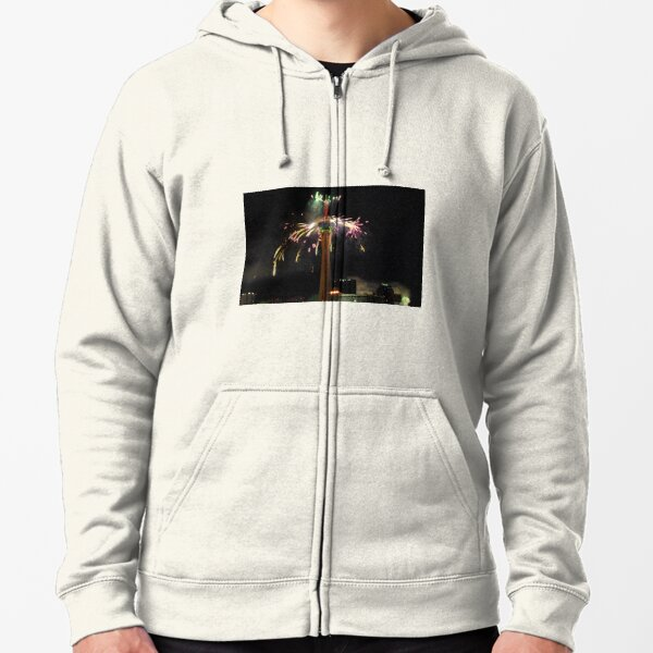 New Year's Eve Fireworks Zipped Hoodie