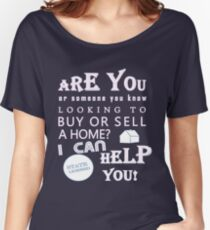 I'm a Realtor, I Can Help for Dark Colors Women's Relaxed Fit T-Shirt