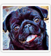 Pug brush stroke Sticker