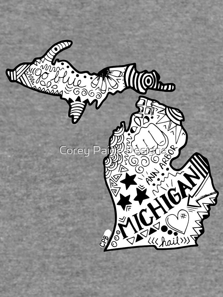 Michigan Gekritzel von Corey-Paige
