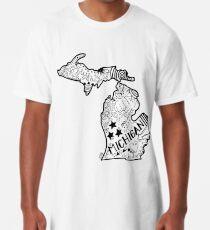 Michigan Gekritzel Longshirt