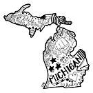 Michigan Gekritzel von Corey Paige Designs