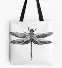 Dragonfly line drawn mosaic Tote Bag