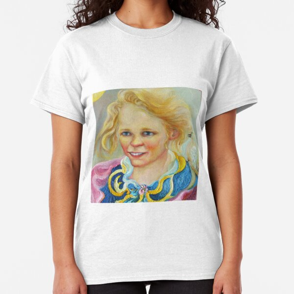 PORTRAIT OF YOUNG GRACE, WITH SPEAKING BIRD Classic T-Shirt