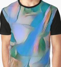 Heavenly Rose Petals Abstract - Blue Graphic T-Shirt