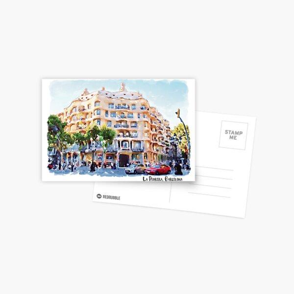 La Pedrera Barcelona Postcard