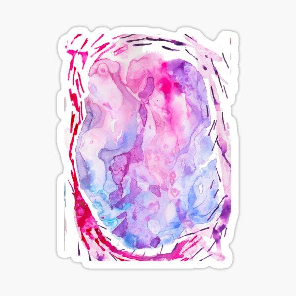 Watercolor Unicorn Dreams - Abstract Pattern Sticker