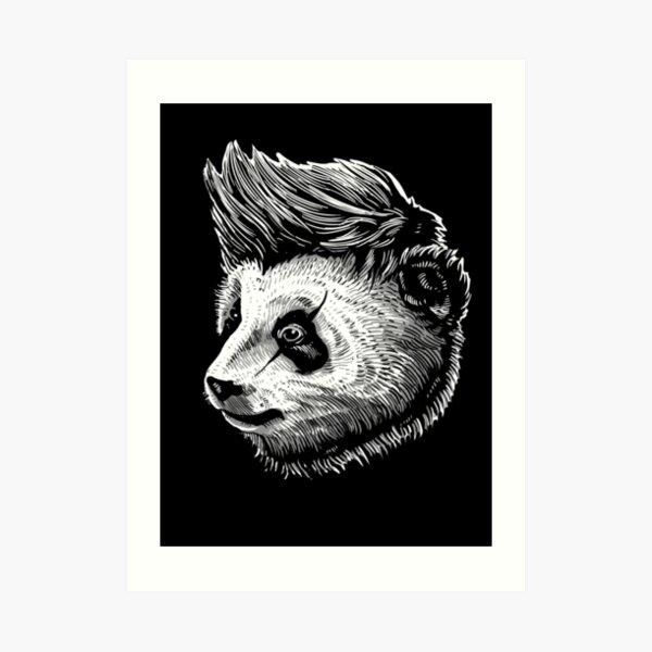 funky panda Art Print