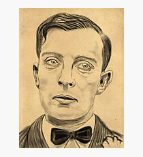 Buster Keaton on Parchment Photographic Print