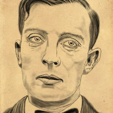 Buster Keaton on Parchment by nicoletteabides