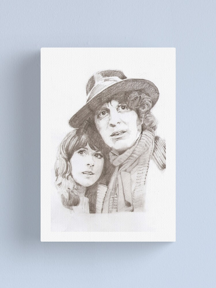 Alternate view of Sarah Jane Smith & The Doctor Canvas Print